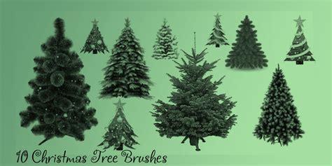 christmas tree brush set by u lys on deviantart