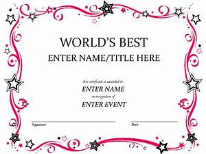 free printable award certificate template word helloalive With prize certificates templates free