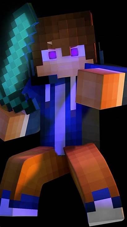 Minecraft Steve Zedge Wallpapers Portrait Sword