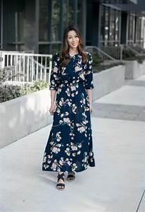 comment porter la robe longue manche longue obsigen With chambre bébé design avec robe fleurie hiver