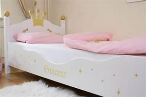 Lit Princesse 90x190 : lit enfant princesse blanc ~ Teatrodelosmanantiales.com Idées de Décoration