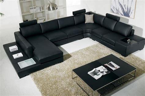 canap 233 d angle en cuir italien 8 places almera avec t 233 ti 232 res noir mobilier priv 233