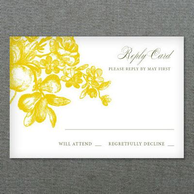 Lemon Love Wedding RSVP Template Download & Print
