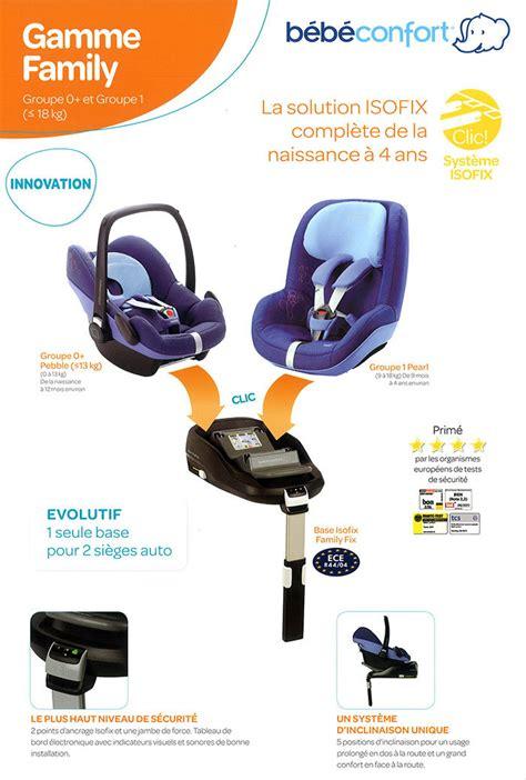 siege auto bebe avec systeme isofix bébé confort siège auto groupe 0 1 0 13 kg pebble