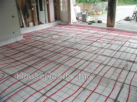 pex radiant slab on grade pex underfloor heating system