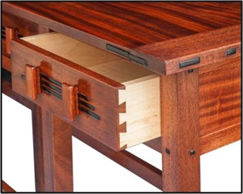 greene  greene inspired hall table  willie wolf
