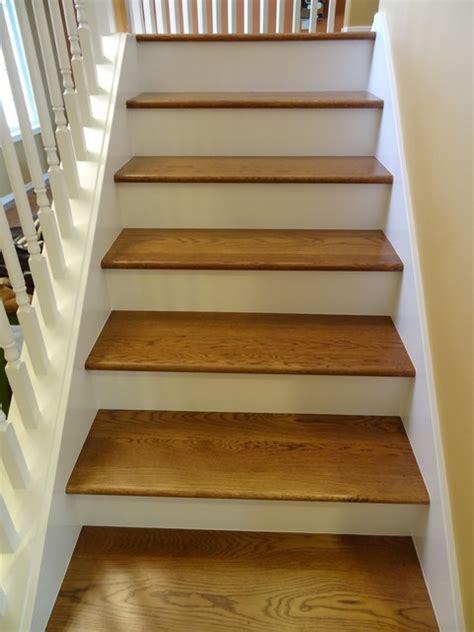 refinishing hardwood stairs monk 39 stairs carpet to hardwood traditional staircase