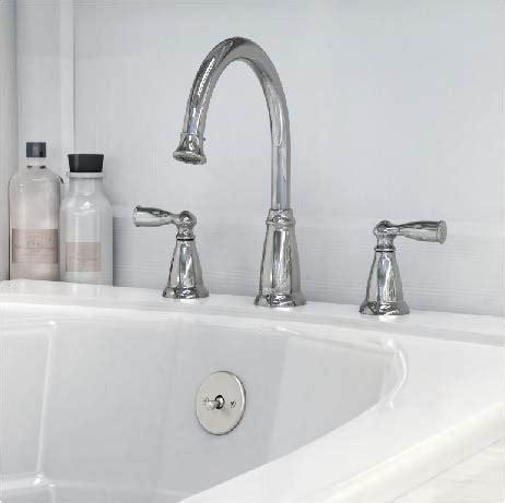 moen banbury  handle deck mount high arc roman tub faucet