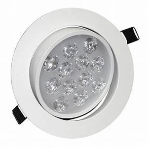 Spot à Led : 12w angle adjustment recessed spotlight led ceiling downlight ~ Melissatoandfro.com Idées de Décoration