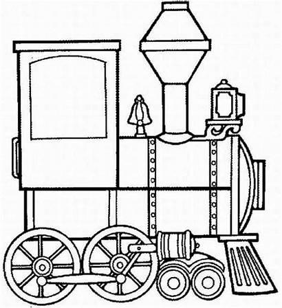 Train Steam Coloring Locomotive Engine Clipart Clip