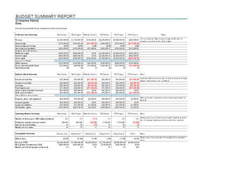 budget report template  organization