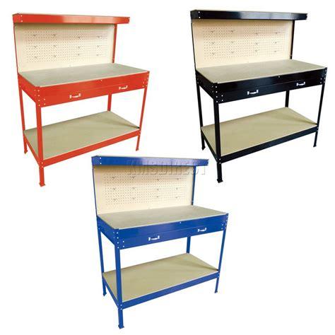 garage tool bench steel garage tool box work bench storage pegboard shelf