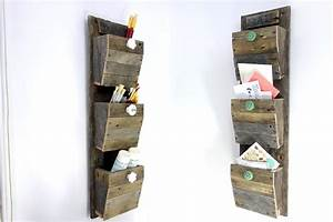 old and vintage diy wood wall mounted file and letter With letter bin organizer wall