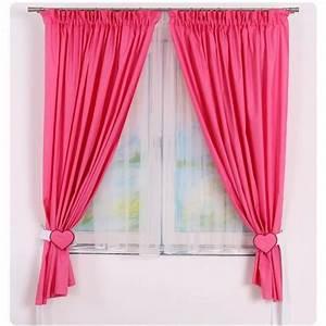 Rideau De Chambre : rideaux de chambre b b fille rose framboise achat vente rideau 100 coton cdiscount ~ Teatrodelosmanantiales.com Idées de Décoration