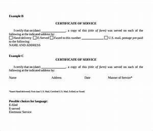 certificate of service template 8 download free documents in pdf word With certificate of service template