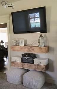DIY Media Shelves - Shanty 2 Chic