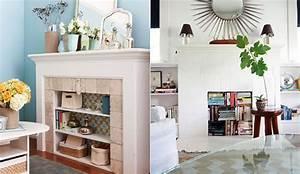 Ideas para decorar el interior de las chimeneas