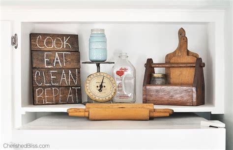 decor above kitchen cabinets farmhouse cottage kitchen reveal cherished bliss Farmhouse
