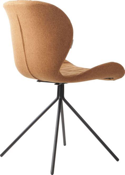chaise zuiver zuiver dining chair omg camel brown 50x56x80cm