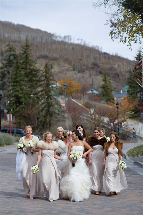 stunning winter destination wedding  vail colorado