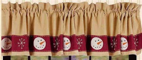 christmas snow buddies curtain valance home collections