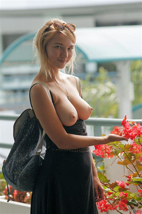 Busty Blonde Lily Ivy Flashes Her Big Tits In Public | iCandyGirls.com