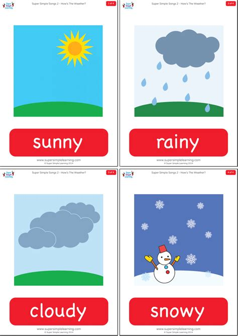 hows  weather flashcards super simple