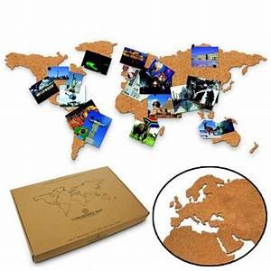 Pinnwand Weltkarte Kork : weltkarte aus kork reisekarte zum selbstgestalten ~ Markanthonyermac.com Haus und Dekorationen