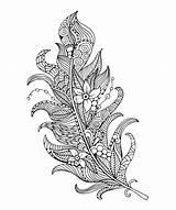 Feather Coloring Svetlana Malysheva 16th Artwork October Piece sketch template