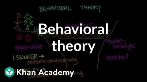 behavioral theory behavior mcat khan academy youtube