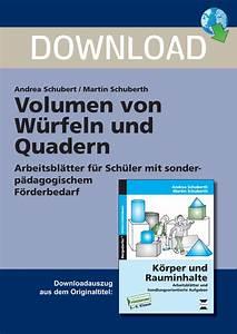 Rauminhalte Berechnen : volumen von w rfeln und quadern unterrichtsmaterial und arbeitsbl tter school scout ~ Themetempest.com Abrechnung