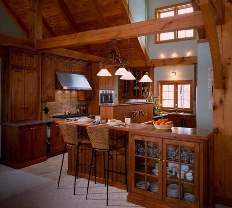 pictures  log home kitchens  log home guide
