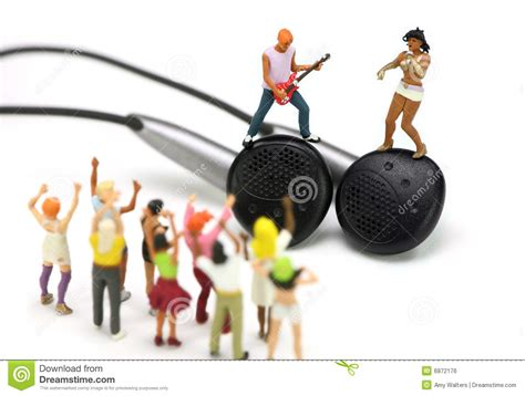 miniature band   pair  ear buds mp concept royalty
