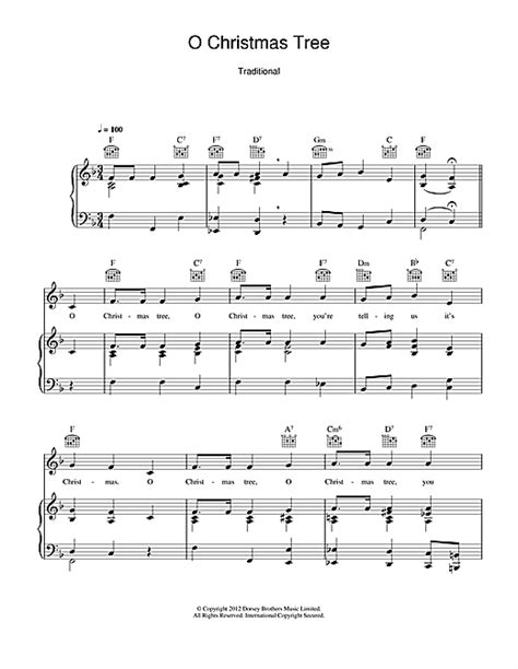 o christmas tree variation pdf sheet music o tree sheet by carol piano vocal guitar right melody 114823