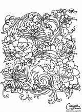 Coloring Adult Pages Adults Flower Drawing Flowers Printable Vegetation Colouring Drawings Books Leaves Fleurs Colour Justcolor Paisley Plant Popular Patterns sketch template
