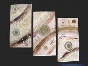 Tableau Triptyque Moderne : tableau triptyque moderne taupe chocolat marron vert anis salon pinterest taupe ~ Teatrodelosmanantiales.com Idées de Décoration