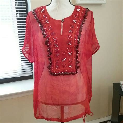 chicos blouses chico 39 s chico 39 s tie dye bead sequin embroidered top