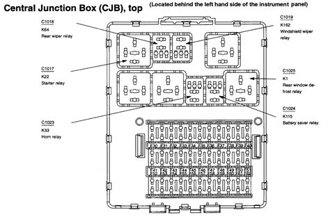 2000 Ford Focu Fuse Box Layout i need a lay out for a 2000 ford focus fuse panel i