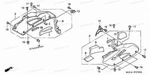 Honda Motorcycle 2004 Oem Parts Diagram For Middle Cowl  1
