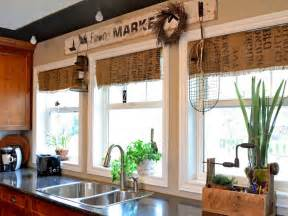 kitchen window dressing ideas window treatment ideas hgtv