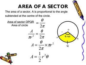 Circle Sector Area Formula