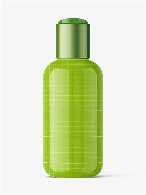 Free cosmetic bottle spray mockup. Bottle with disctop mockup / glossy - Smarty Mockups