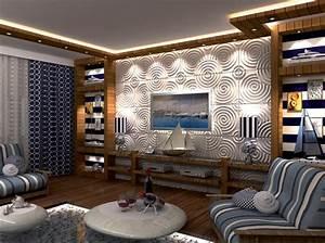 Wall Art Tapeten : 3d wandpaneele ripple wandverkleidung deckenpaneele deckenverkleidung verblender ~ Markanthonyermac.com Haus und Dekorationen