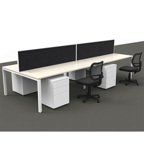 Office Desk Systems by Modular 4 Desk 4 Drawer Unit And 4 Chair Pack Value