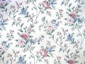 Blue Vintage Floral Wallpaper   WallMaya.com