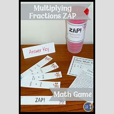 Multiplying Fractions Don't Get Zapped Math Game  Math For Sixth Grade