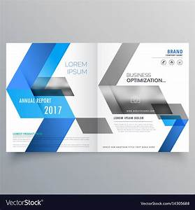 Modern Booklet Cover Page Design Template With Vector Image