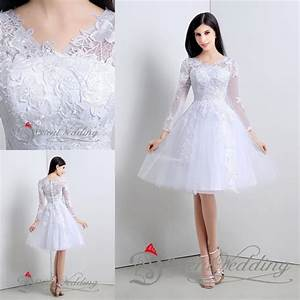 2015 free shipping little simple white wedding dresses for Short white wedding dress with sleeves