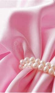 Smooth Elegant Rose Silk Background With Pearl, Beautiful ...