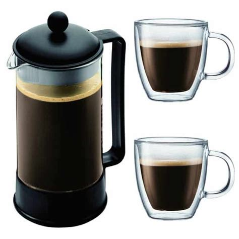 #preheat the bodum french press coffee maker by pouring in some hot water. Bodum brazil french press instructions